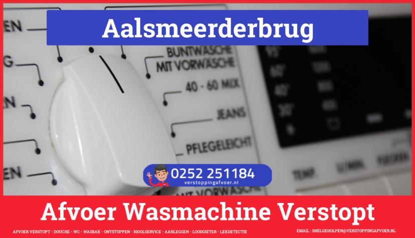 rioolservice afvoer ontstoppen wasmachine in Aalsmeerderbrug