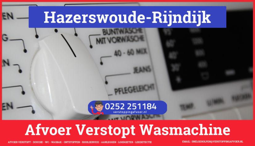 rioolservice wasmachine afvoer ontstoppen in Hazerswoude-Rijndijk