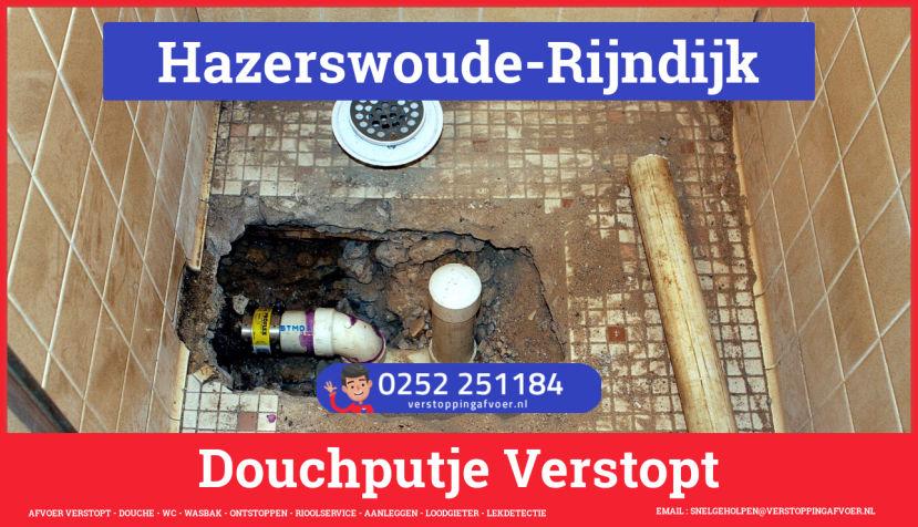 Doucheputje ontstoppen Hazerswoude-Rijndijk