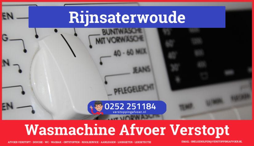 rioolservice afvoer ontstoppen wasmachine in Rijnsaterwoude