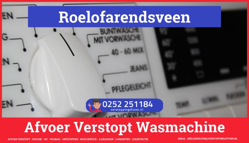 rioolservice afvoer ontstoppen wasmachine in Roelofarendsveen