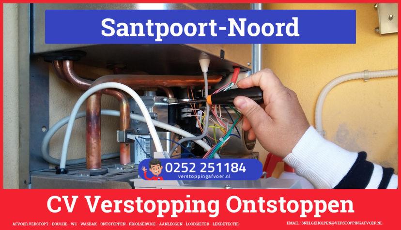 rioolservice afvoer van cv ketel verstopt in Santpoort-Noord