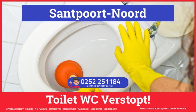 Verstopping wc ontstoppen in Santpoort-Noord