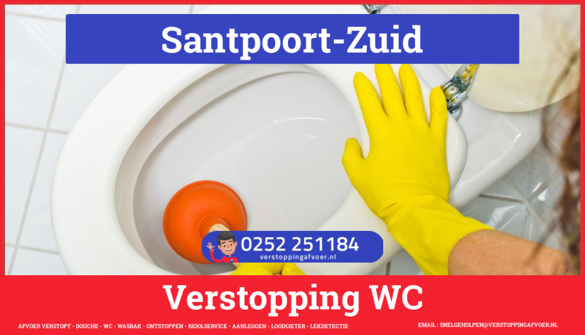 Verstopping wc ontstoppen in Santpoort-Zuid