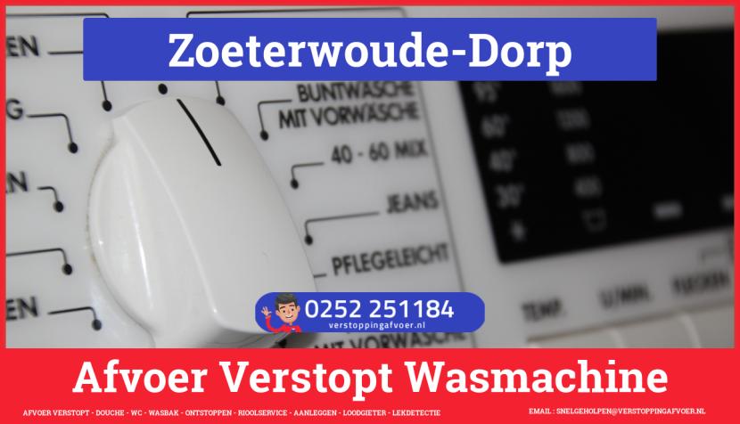 rioolservice wasmachine afvoer ontstoppen in Zoeterwoude-Dorp