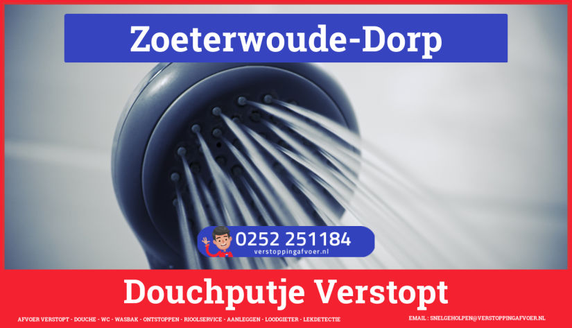 Doucheputje ontstoppen Zoeterwoude-Dorp