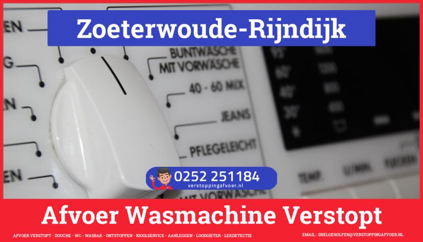 rioolservice wasmachine afvoer ontstoppen in Zoeterwoude-Rijndijk