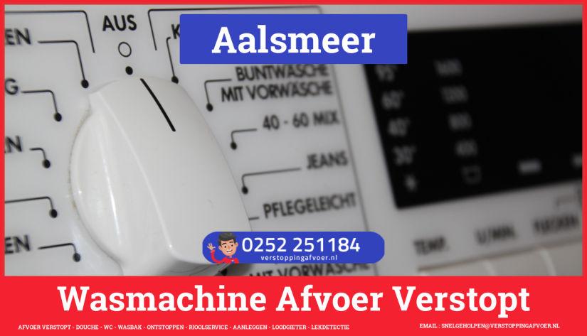 rioolservice afvoer ontstoppen wasmachine in Aalsmeer