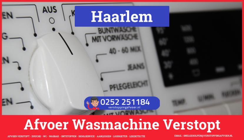rioolservice afvoer ontstoppen wasmachine in Haarlem