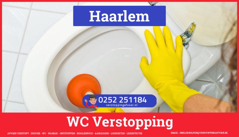 Verstopping wc ontstoppen in Haarlem