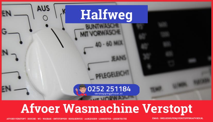 rioolservice wasmachine afvoer ontstoppen in Halfweg