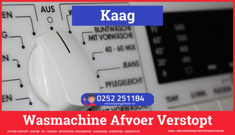 rioolservice wasmachine afvoer ontstoppen in Kaag