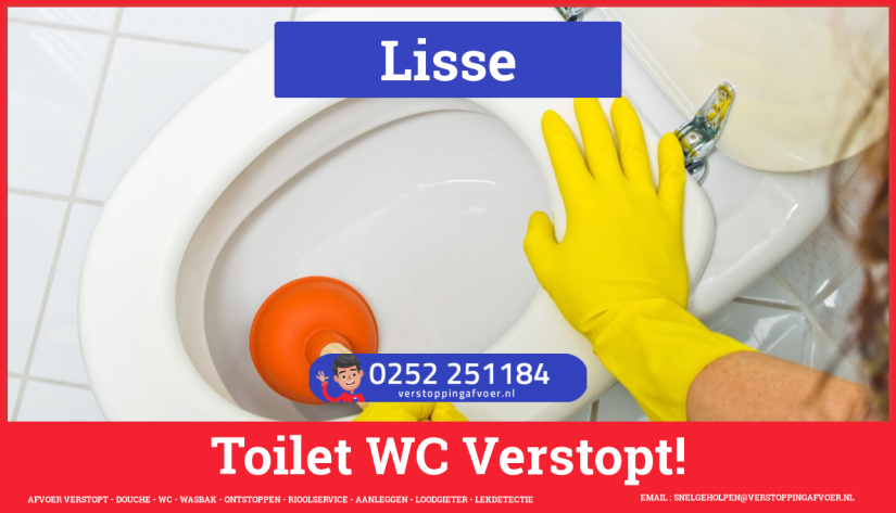 Verstopping wc ontstoppen in Lisse