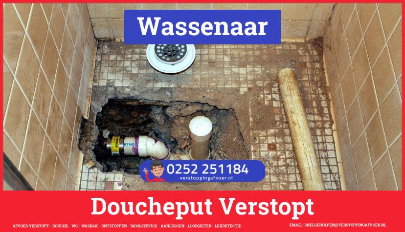 Doucheputje ontstoppen Wassenaar