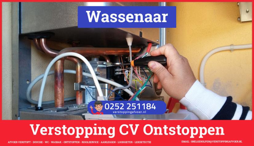 rioolservice afvoer van cv ketel verstopt in Wassenaar