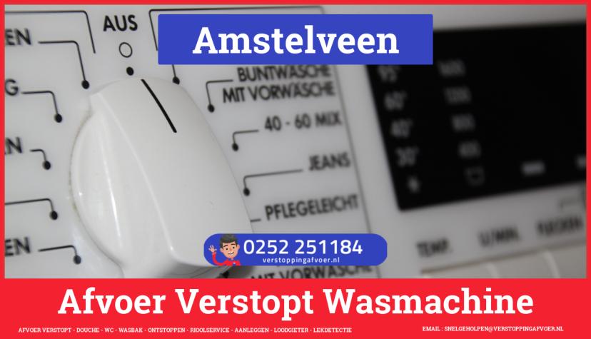 rioolservice afvoer ontstoppen wasmachine in Amstelveen