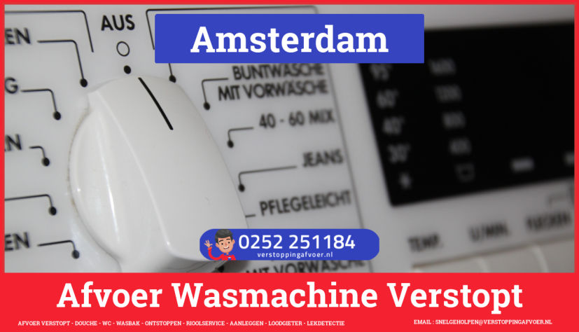 rioolservice afvoer ontstoppen wasmachine in Amsterdam