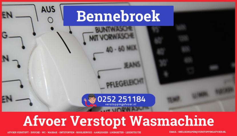 rioolservice wasmachine afvoer ontstoppen in Bennebroek