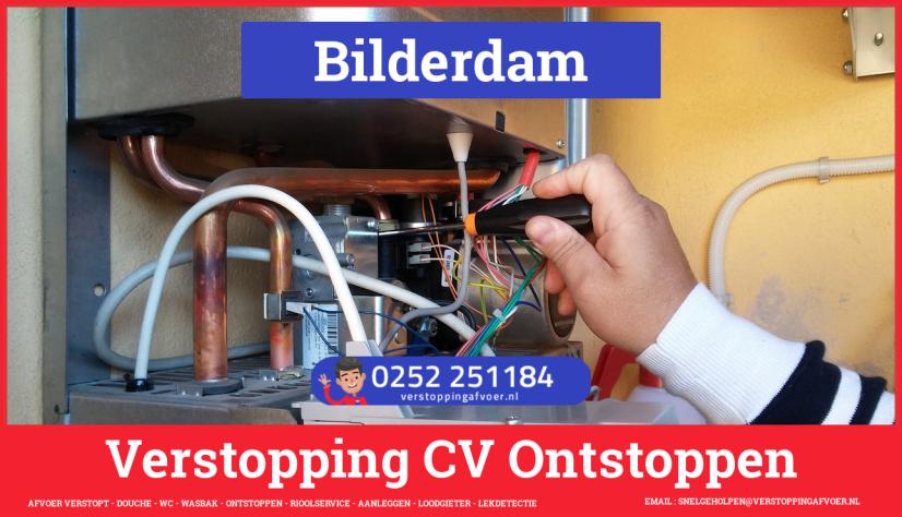 rioolservice afvoer van cv ketel verstopt in Bilderdam