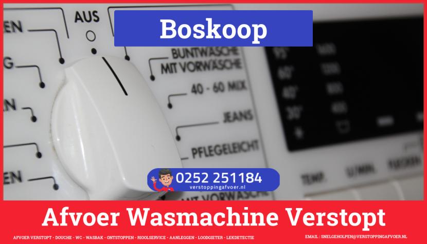 rioolservice wasmachine afvoer ontstoppen in Boskoop