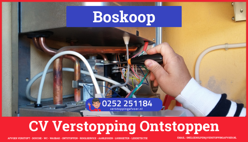 rioolservice afvoer verstopt cv ketel in Boskoop