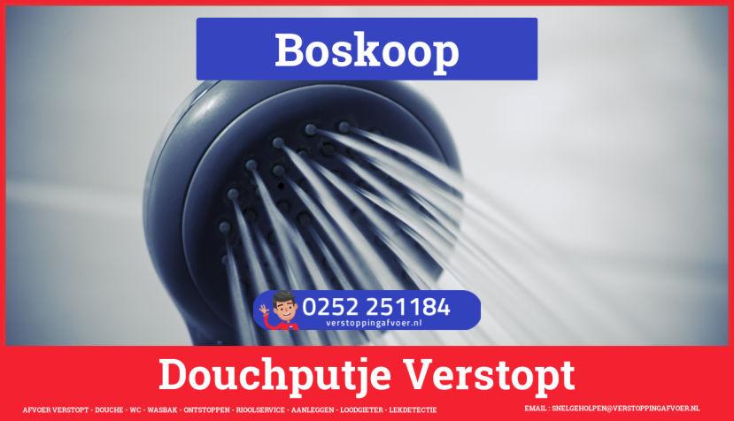 Doucheputje ontstoppen Boskoop