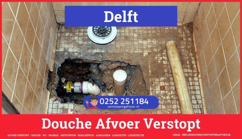 Doucheputje ontstoppen Delft