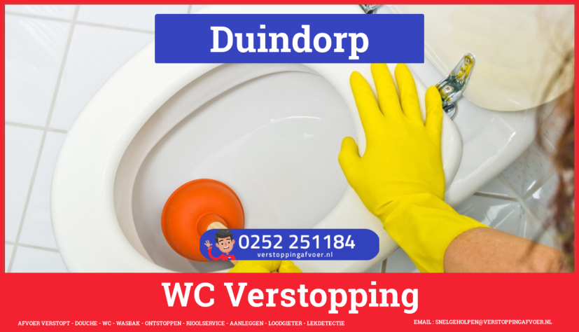 Verstopping wc ontstoppen in Duindorp