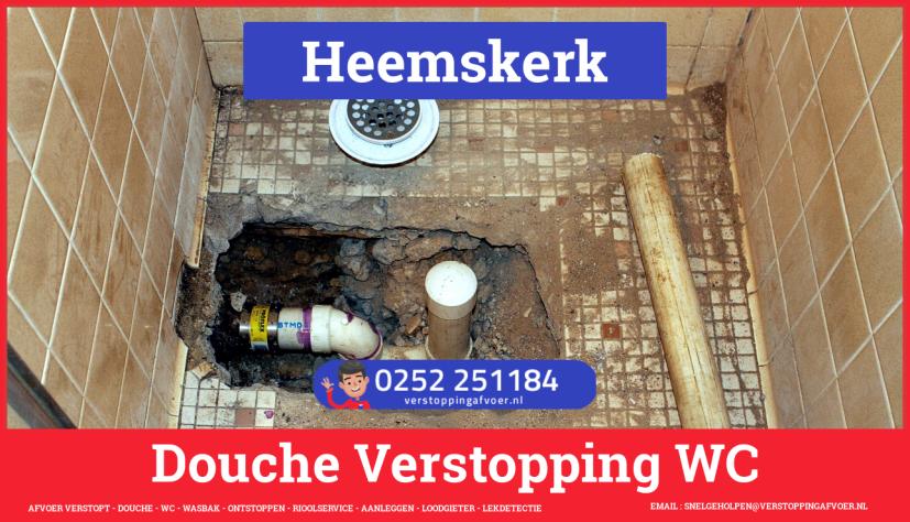 Doucheputje ontstoppen Heemskerk