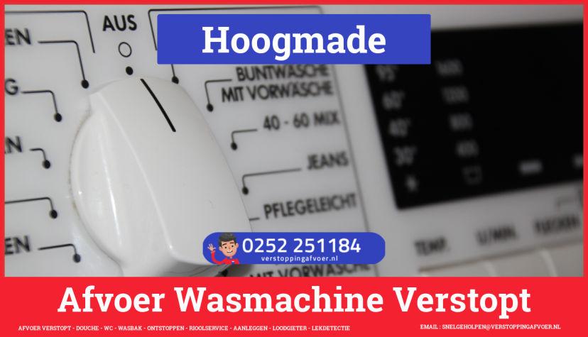 rioolservice afvoer ontstoppen wasmachine in Hoogmade