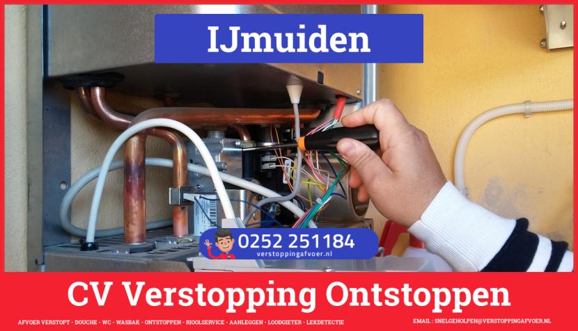 rioolservice cv ketel afvoer verstopt in IJmuiden