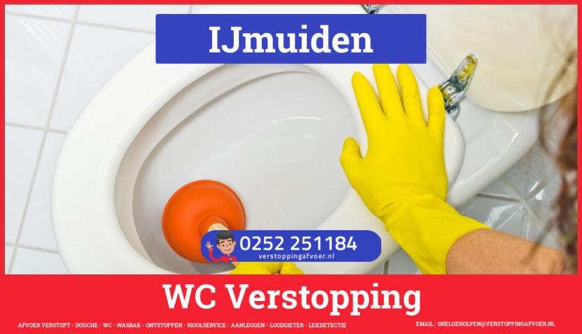 Verstopping wc ontstoppen in IJmuiden