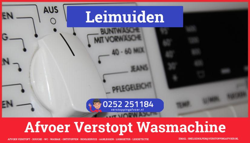 rioolservice afvoer ontstoppen wasmachine in Leimuiden