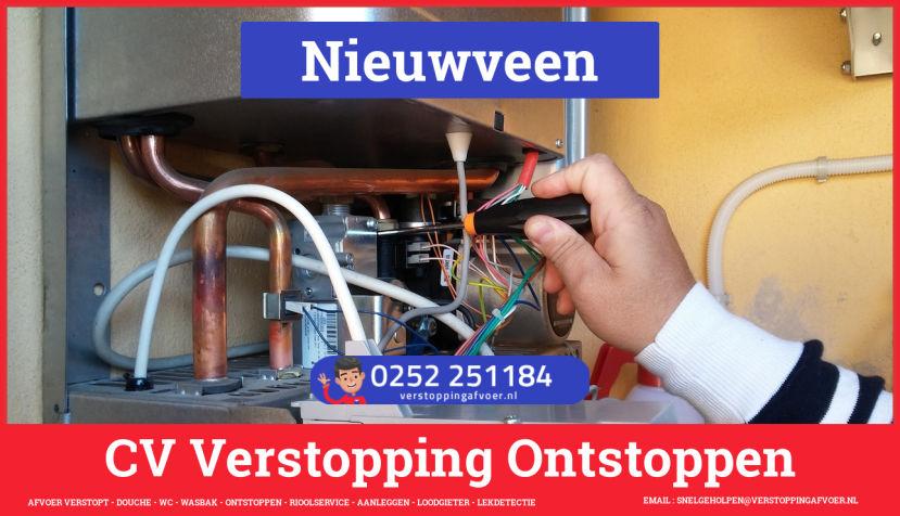 rioolservice cv ketel afvoer verstopt in Nieuwveen