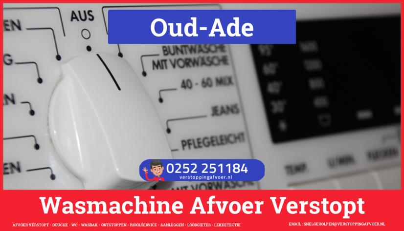 rioolservice wasmachine afvoer ontstoppen in Oud-Ade