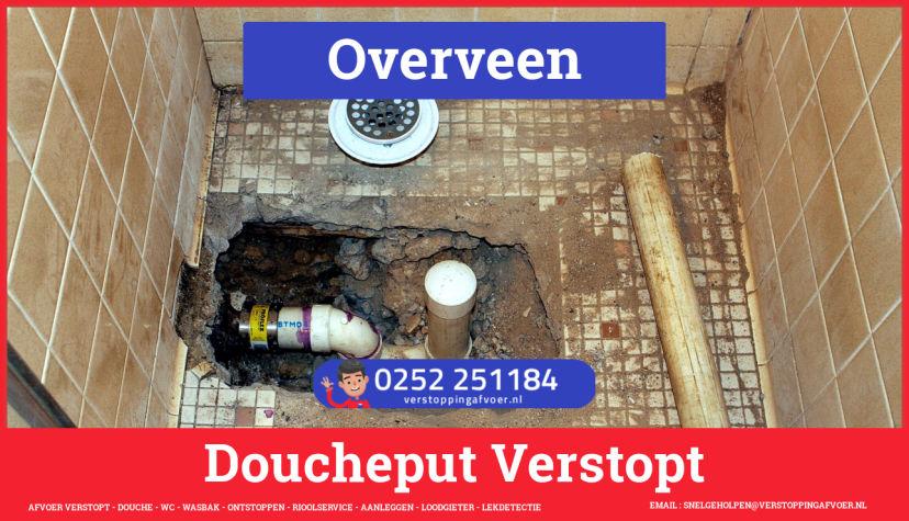 Doucheputje ontstoppen Overveen
