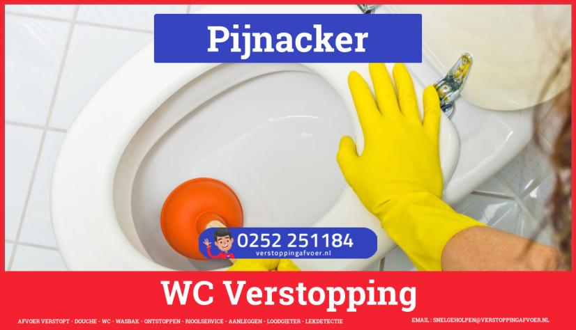 Verstopping wc ontstoppen in Pijnacker