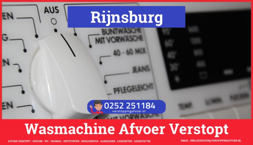 rioolservice afvoer ontstoppen wasmachine in Rijnsburg