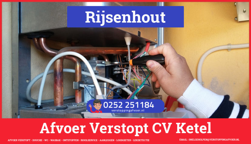 rioolservice cv ketel afvoer verstopt in Rijsenhout
