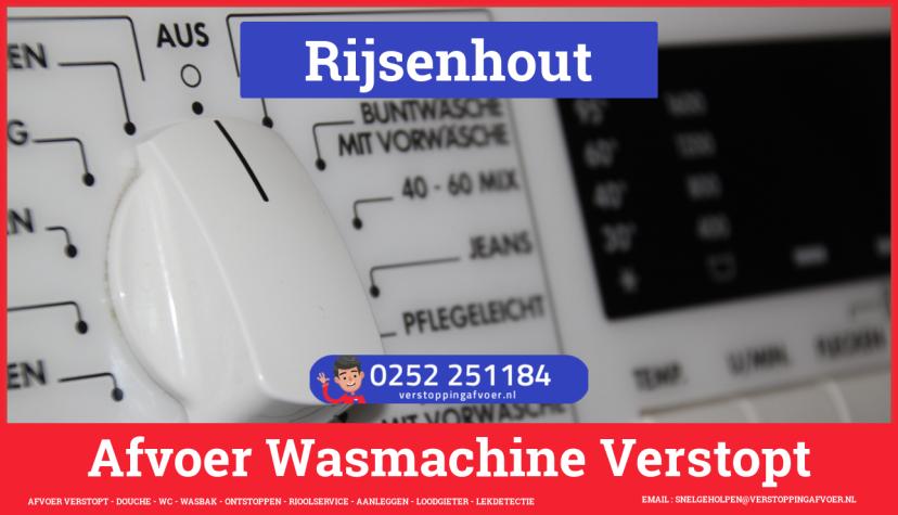 rioolservice afvoer ontstoppen wasmachine in Rijsenhout