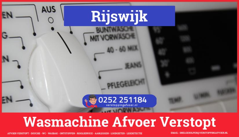 rioolservice wasmachine afvoer ontstoppen in Rijswijk