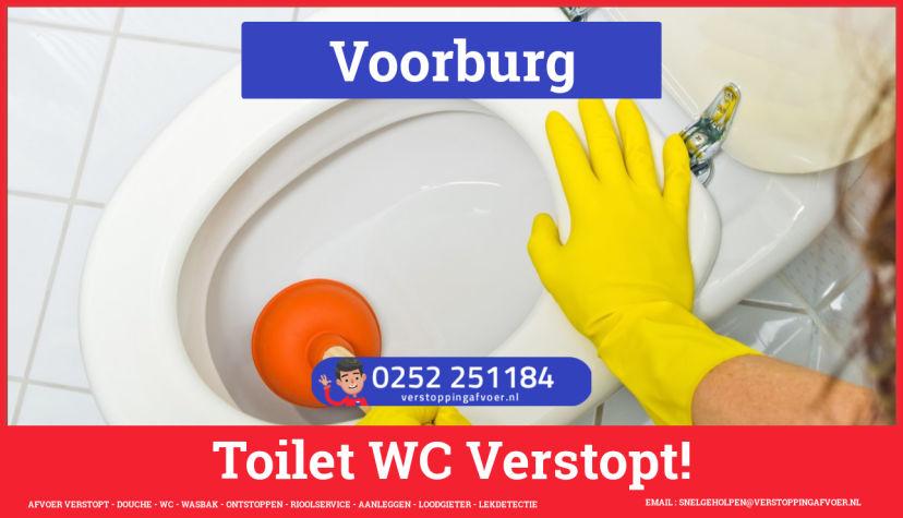Verstopping wc ontstoppen in Voorburg