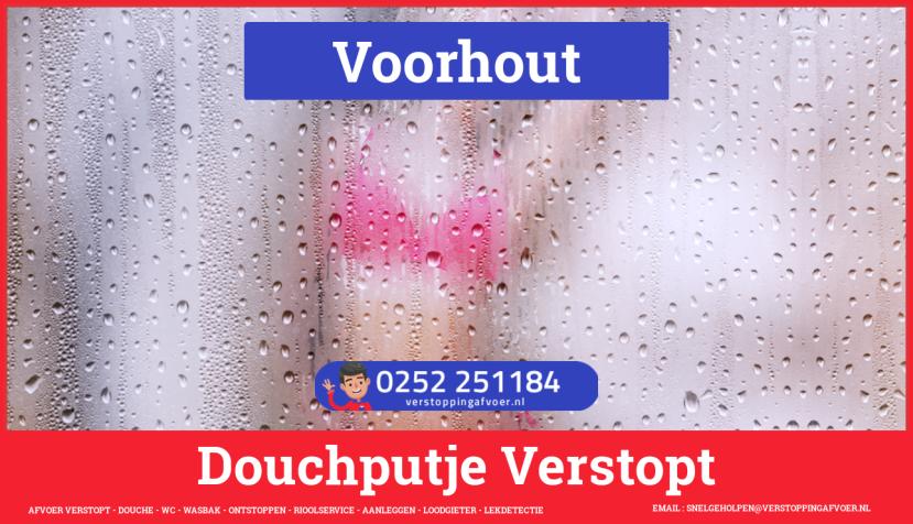 Doucheputje ontstoppen Voorhout