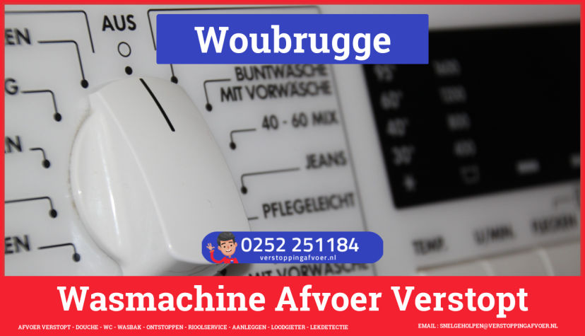 rioolservice wasmachine afvoer ontstoppen in Woubrugge