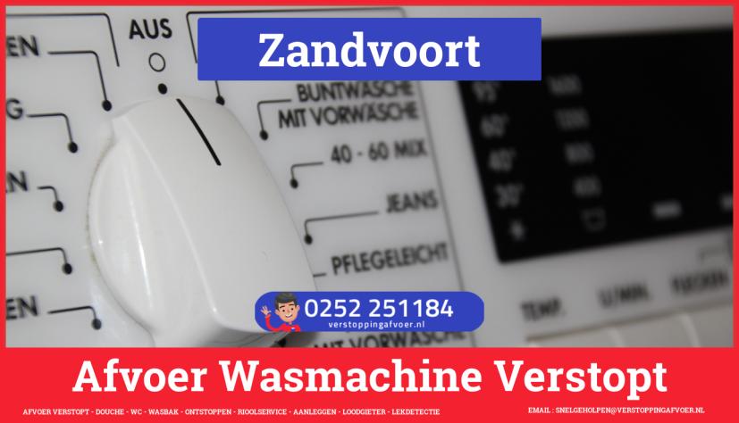 rioolservice afvoer ontstoppen wasmachine in Zandvoort