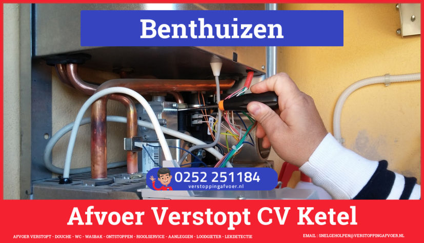 rioolservice afvoer van cv ketel verstopt in Benthuizen