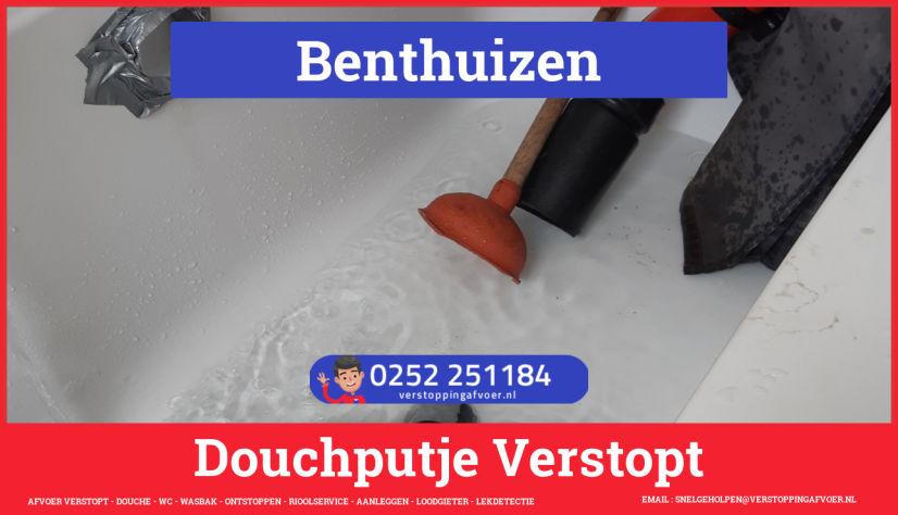 Doucheputje ontstoppen Benthuizen