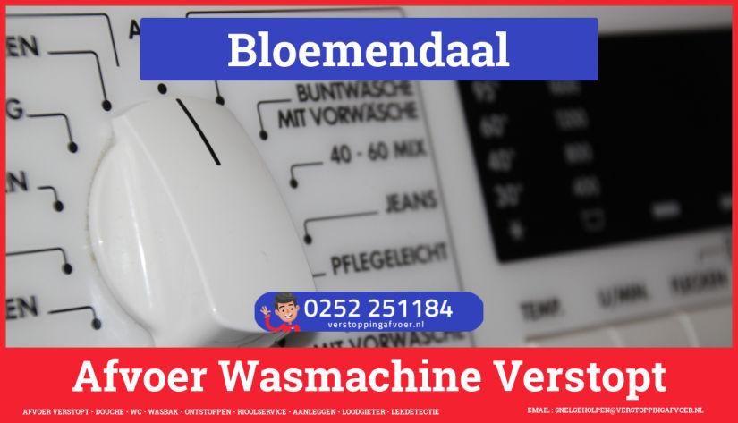 rioolservice afvoer ontstoppen wasmachine in Bloemendaal