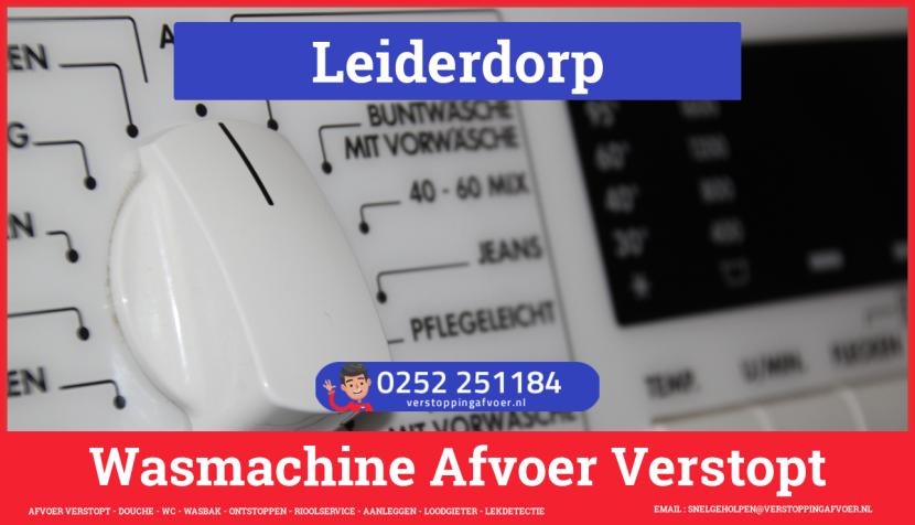 rioolservice afvoer ontstoppen wasmachine in Leiderdorp
