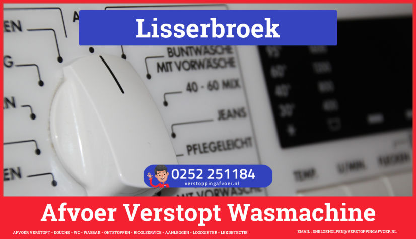rioolservice wasmachine afvoer ontstoppen in Lisserbroek
